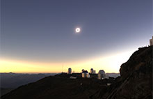 Solar eclipse above Observatorio de La Silla, in Chile.